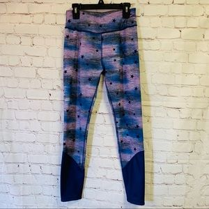 Justice Athletic Leggings with stars
